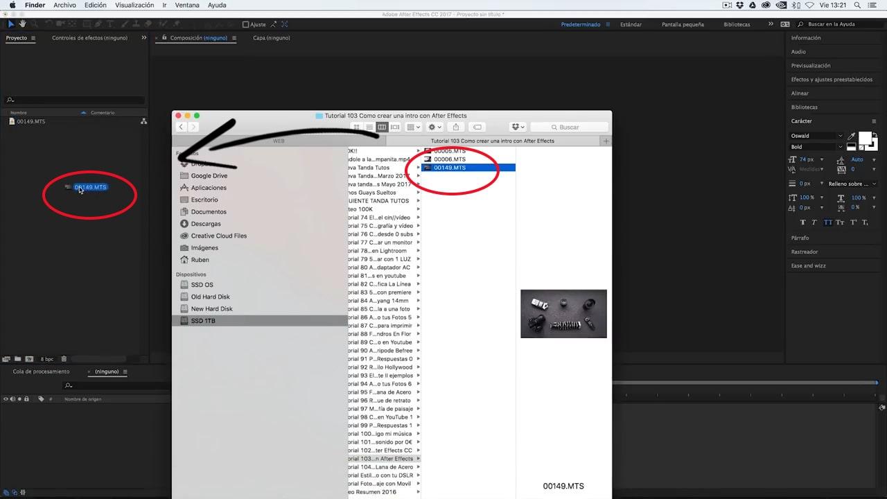 crear proyecto de intro para videos