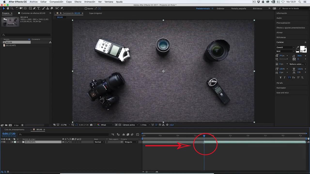 editar el clip de la intro para videos