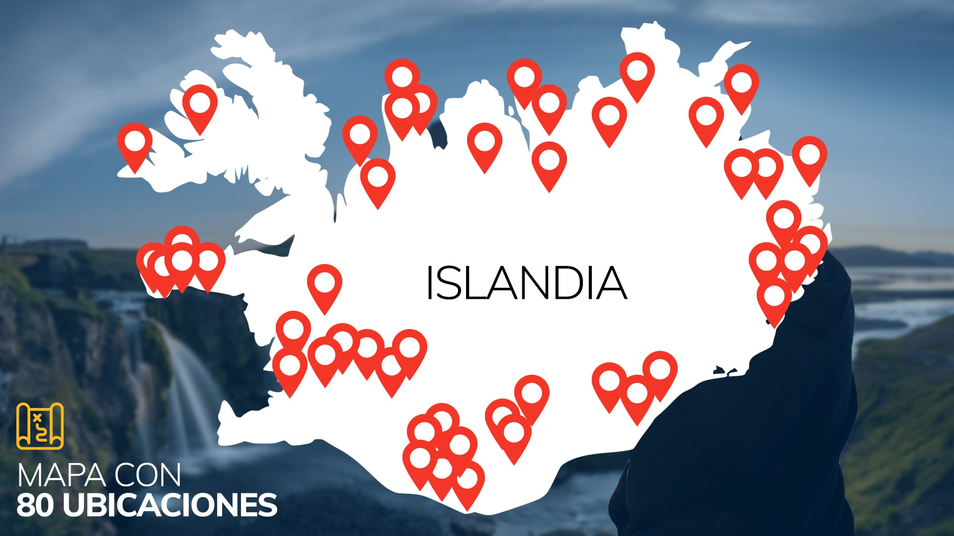 MAPA ISLANDIA geolocalizado