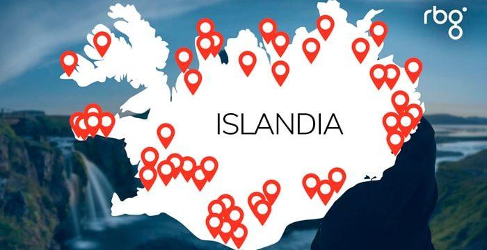 Miniatura Mapa islandia cursos