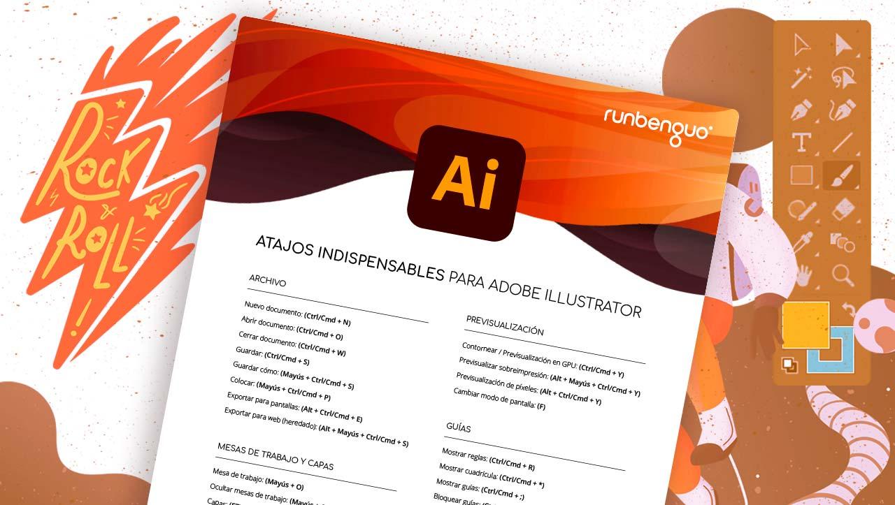 Lista de Atajos de teclado de Adobe Illustrator Runbenguo